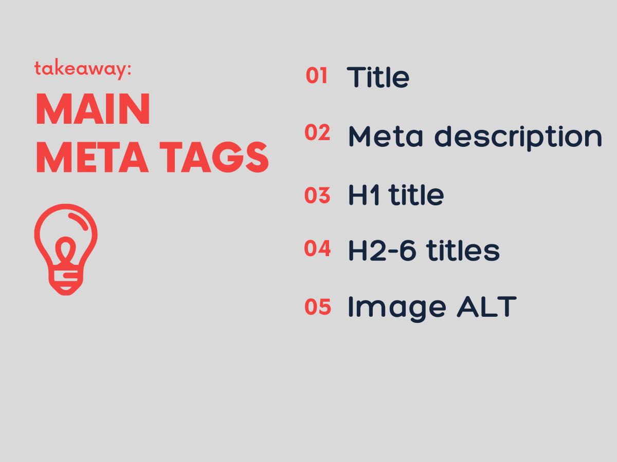 SEO מטא תגיות meta tags כתיבת תוכן